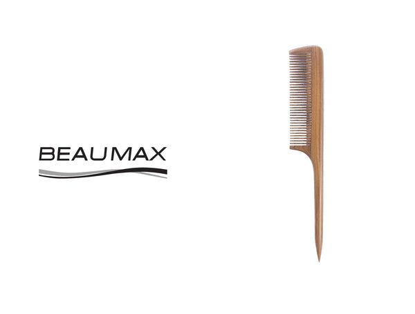 BEAUMAX WOOD FINE TEETH TAIL COMB #792
