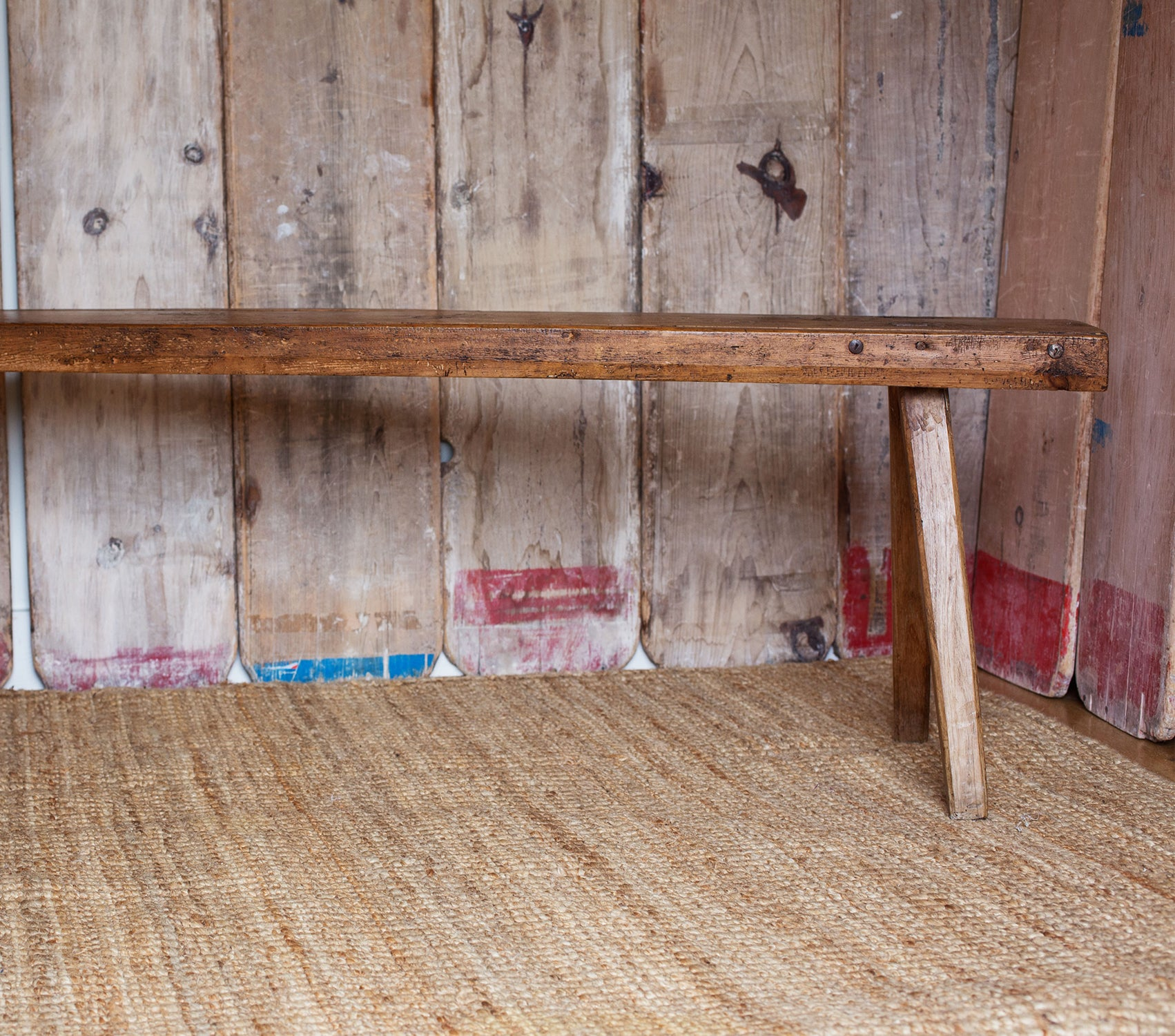 Antique Pitch Pine Bench