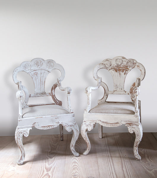 White Painted Russian Chairs