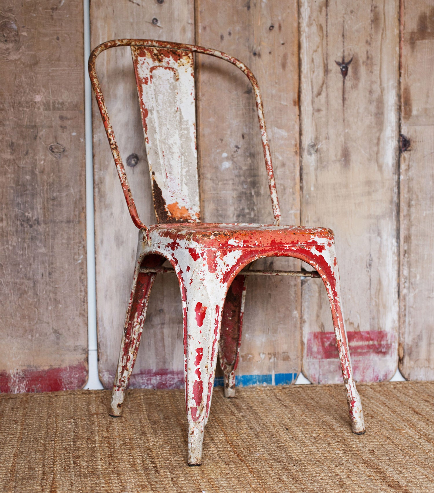 Distressed Tolix Chair