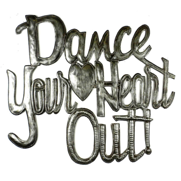 Dance your Heart Out Metal Wall Art - Croix des Bouquets