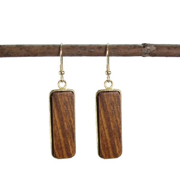 Wooden Linear Earrings - WorldFinds