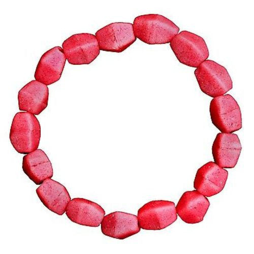 Pink Poppy Glass Pebbles Bracelet - Global Mamas
