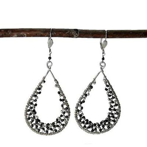 Cubist Droplet Loop Earrings - WorldFinds