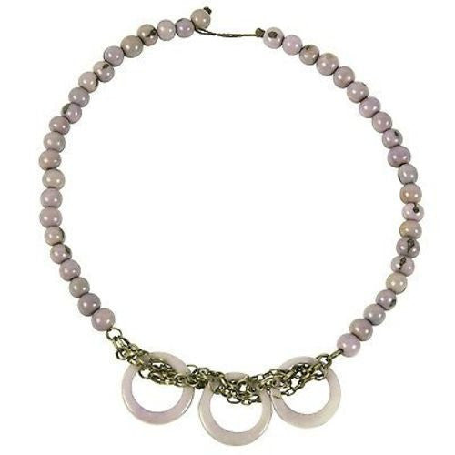 Circle Chain Choker in Lavender - Faire Collection