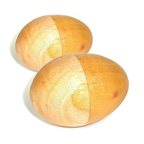 Set of Two Handmade Wood Egg Shakers - Jamtown World Instruments