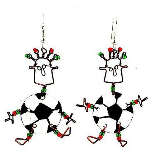 Dancing Girl Soccer Earrings - Creative Alternatives