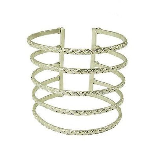 Silvertone Baroque Cuff - WorldFinds