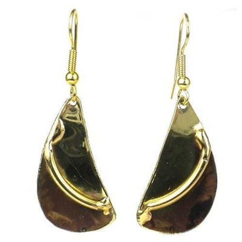 Brushstroke Brass Earrings - Brass Images (E)