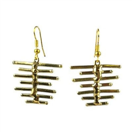 Fence Brass Earrings - Brass Images (E)
