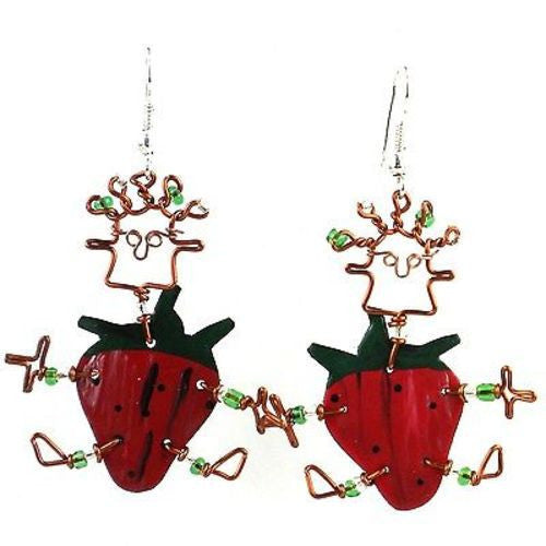 Dancing Girl Strawberry Earrings - Creative Alternatives