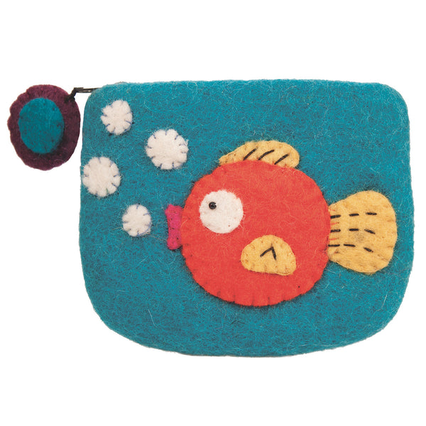 Felt Coin Purse - Gold Fish - Wild Woolies (P)