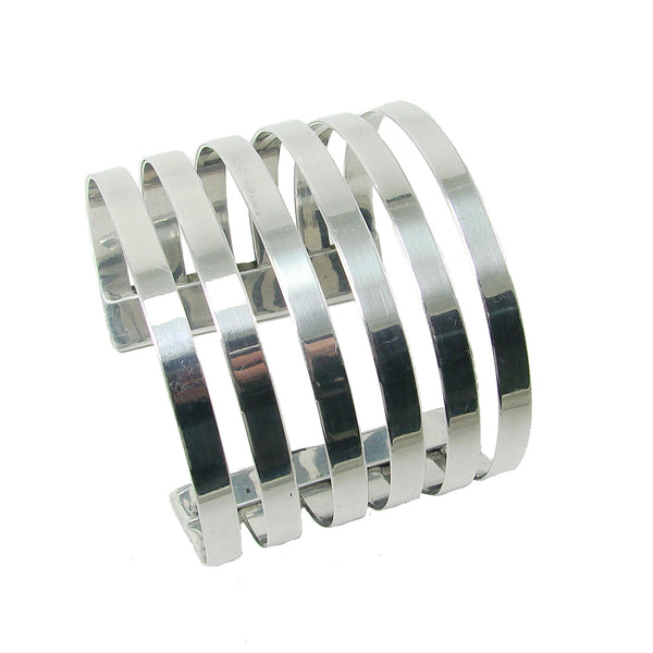 Six Band Cuff - Silver - WorldFinds