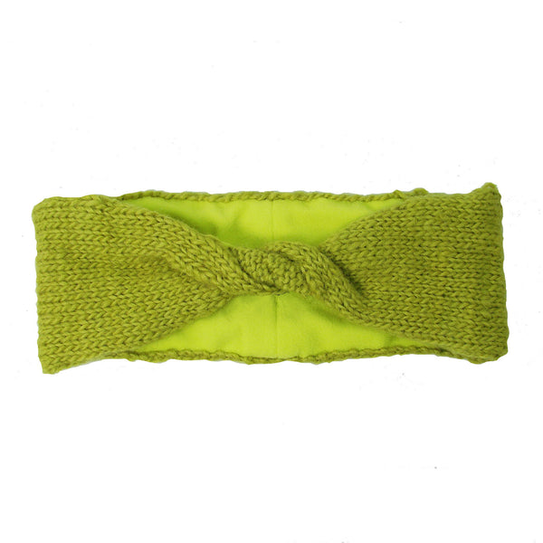 Lined Twist Headband - Citron - WorldFinds (W)