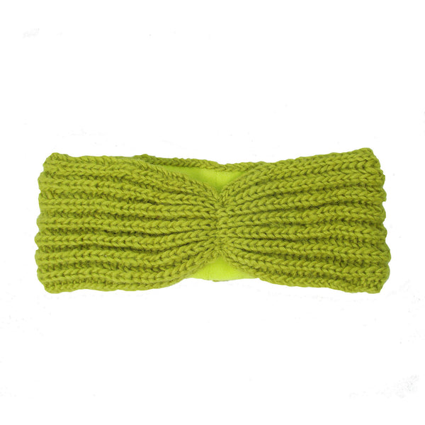 Lined Turban Headband - Citron - WorldFinds (W)