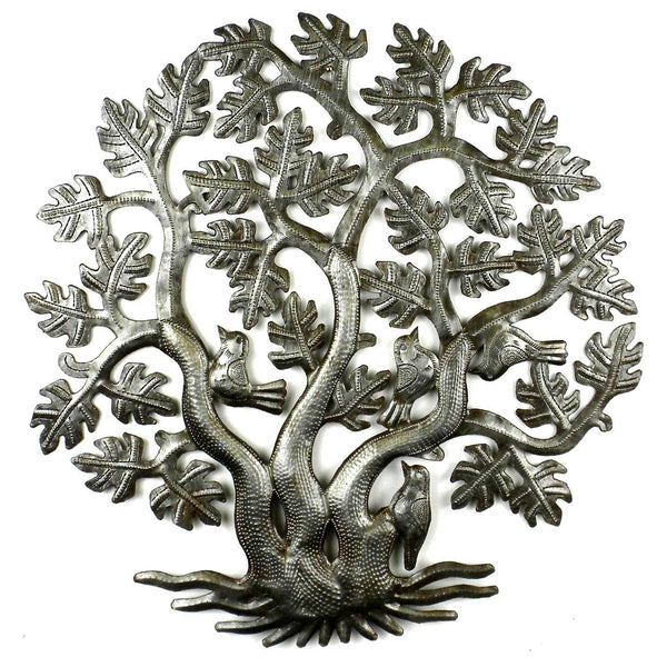 14 inch 3 Trunk Tree of Life Wall Art - Croix des Bouquets