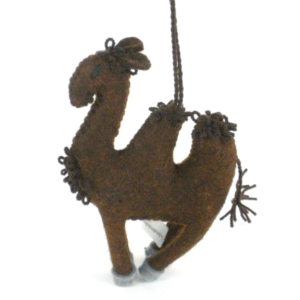 Camel Felt Holiday Ornament - Silk Road Bazaar (O)