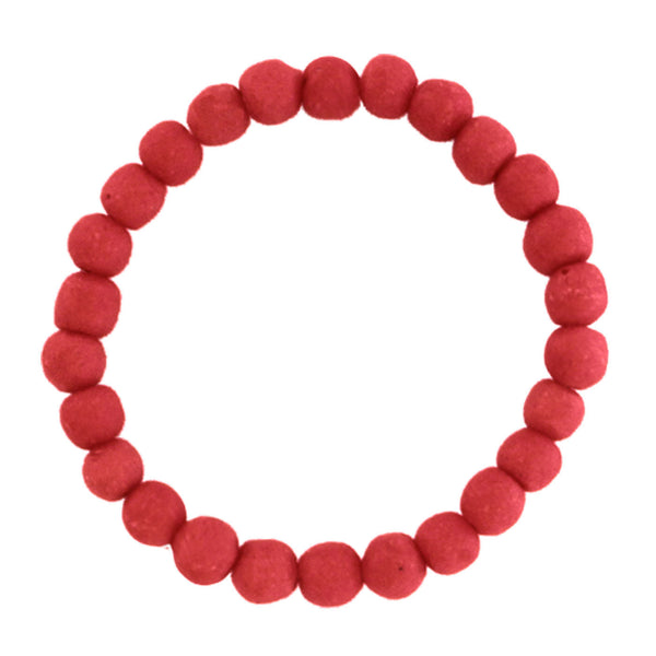 Recycled Glass Bead Bracelet Poppy - Global Mamas