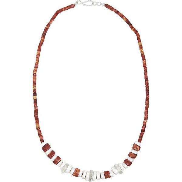 Down to Earth Necklace White - Global Mamas