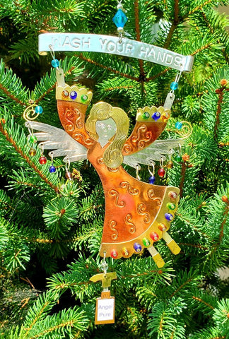 2020 Pandemic Wash Your Hands Angel Ornament