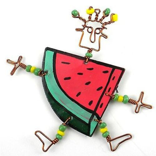 Dancing Girl Melon Slice Pin - Creative Alternatives