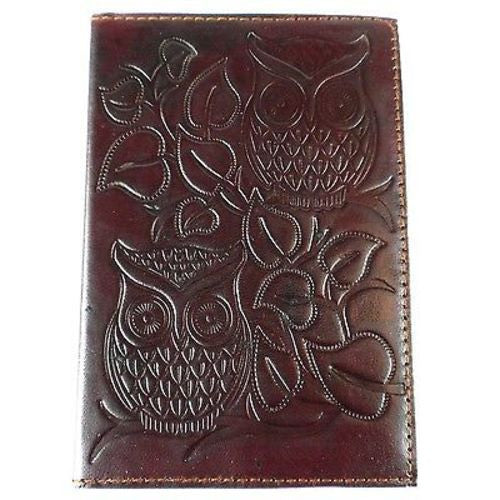 "Night Owl"" Embossed Leather Journal - Matr Boomie (J)"