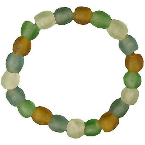 Recycled Rainbow Pearl Glass Bracelet - Global Mamas