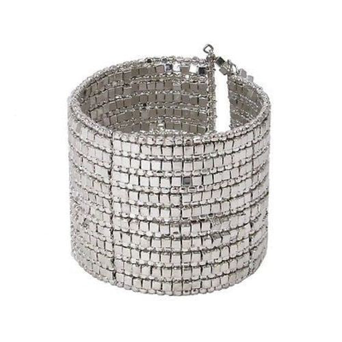 Shining Silver Gilded Cuff Bracelet - WorldFinds