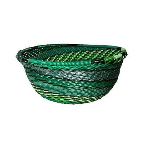 Handcrafted Recycled Telephone Wire Bowl - Emerald - South Africa