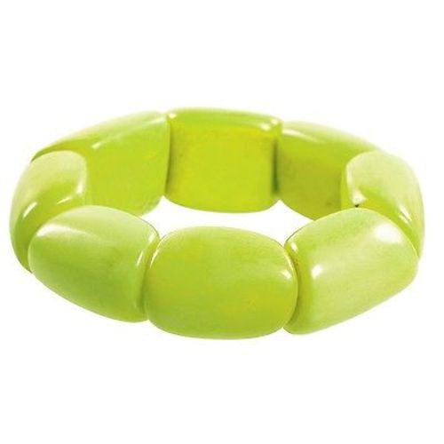 Riverbed Tagua Nut Bracelet in Lime - Faire Collection