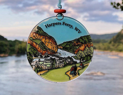 Harpers Ferry Currier and Ives Lithograph Suncatcher