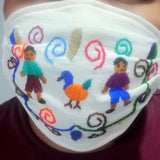 Embroidered Fair Trade Cotton Face Mask
