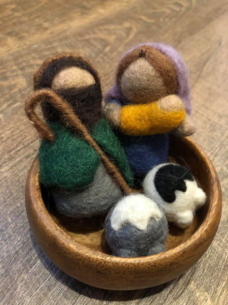 Cutest Mini Childs Felt Nativity