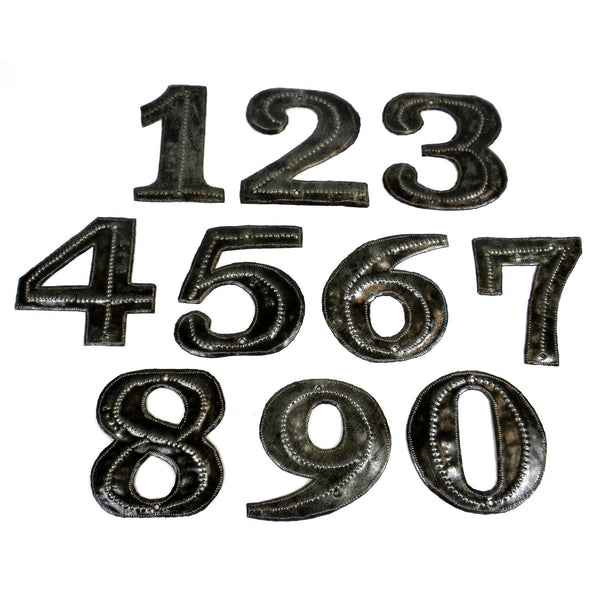 Haitian Metal House Number - Sold Individually  Handmade and Fair Trade