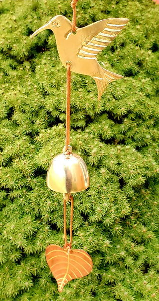 Hand Cast Brass Hummingbird Chime