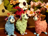 Hand Knit Cotton Baby Llama Stuffed Animal