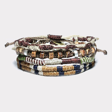 Wakami Mens Earth Bracelet Set/4