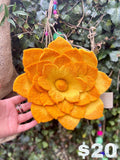 Lovely Felted Lotus Flower Yellow
