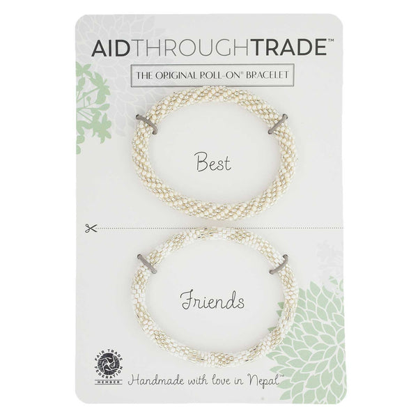 Roll-On Friendship Bracelets - Pearl - Aid Through Trade