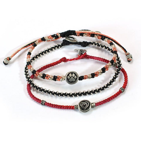 3 Bracelets Set Animals & Love