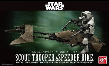 1/12 Scout Trooper & Speeder Bike (Bandai Ver.)