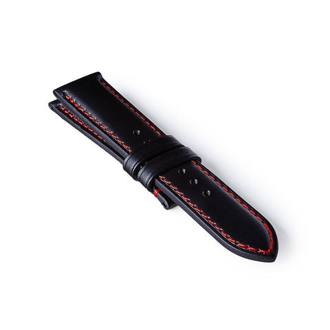 Leather Strap - Black/Red: £131.00
