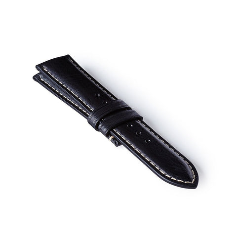 Leather Strap - Black/White