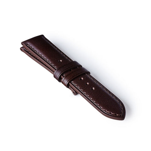 22mm Regular Leather Strap - Brown/Brown