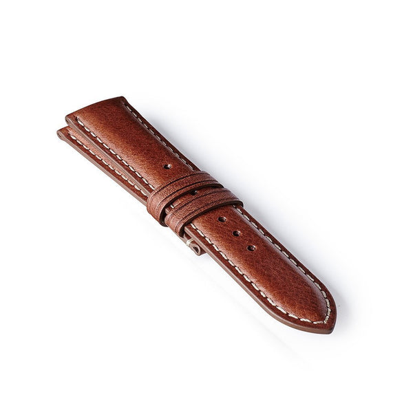 Leather Strap - Brown/White