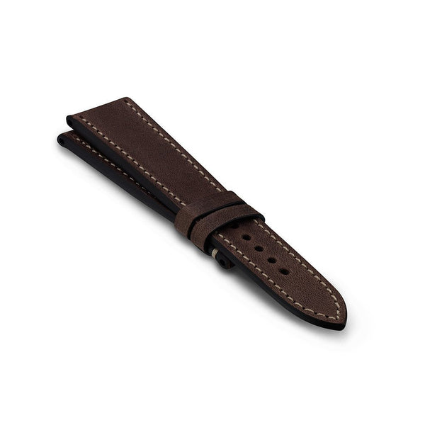Vintage Leather Strap - Dark Brown - Full Stitch