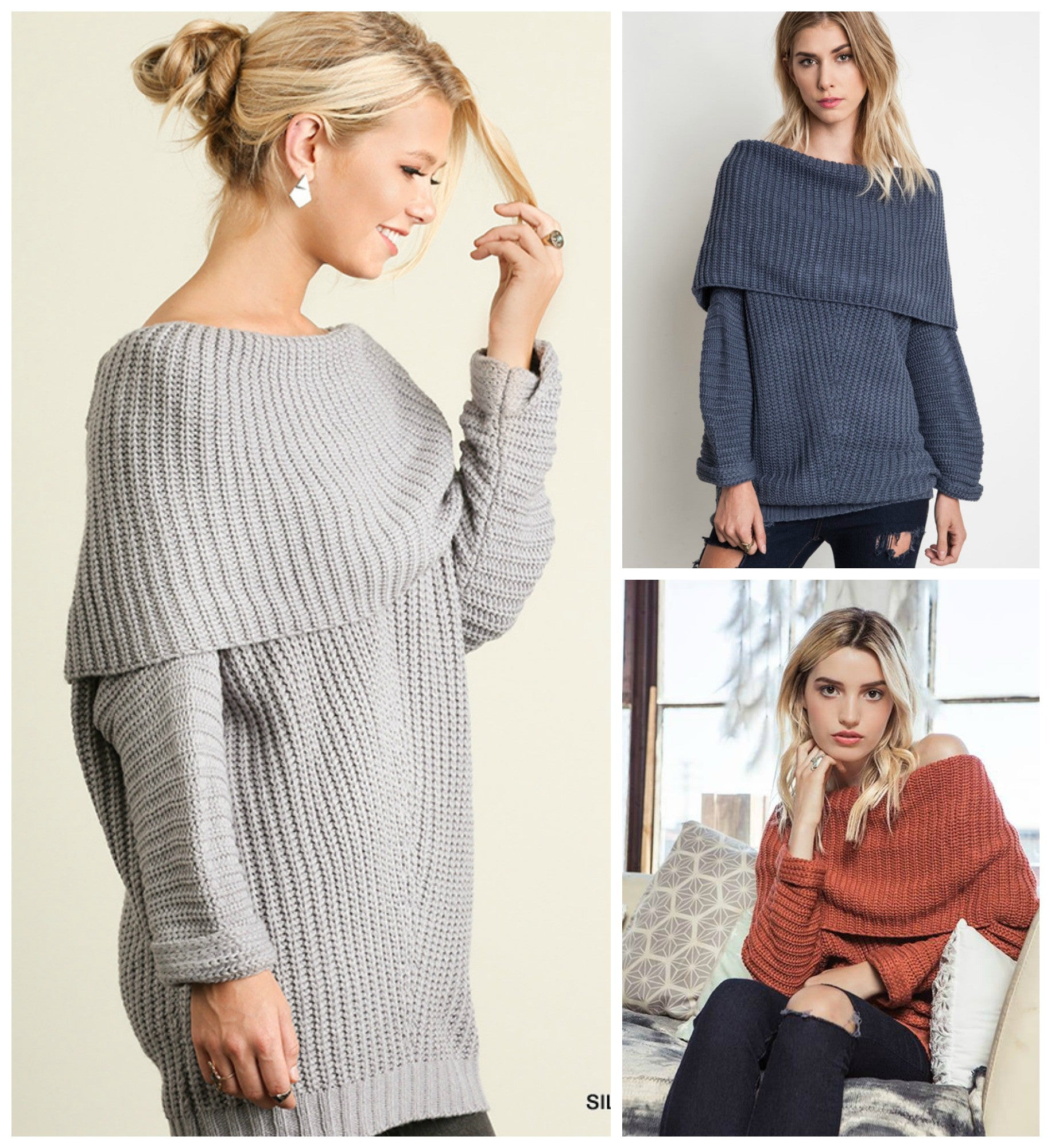 3e3b0814d Its your Favorite Chunky Cowl neck sweater