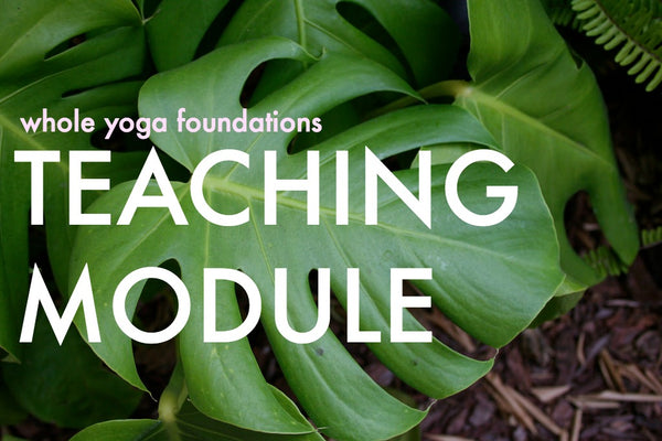 Whole Yoga Foundations Immersion/ TEACHING MODULE