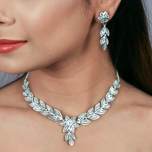Silver Necklace in Filigree Online India