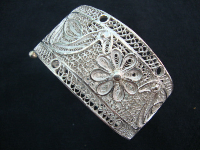 Silver Filigree Bracelet Bangle BG007b